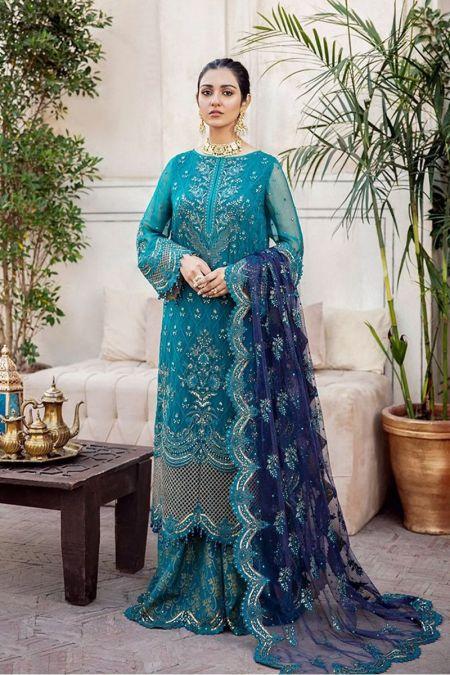 Imrozia custom stitch Flapper kameez style Wedding Dress chiffon collection