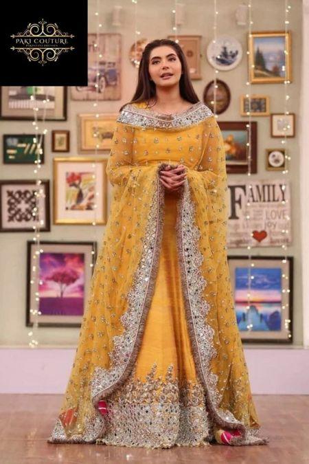 Kashee custom stitch long Frock style Wedding Dress MAYSOORI collection