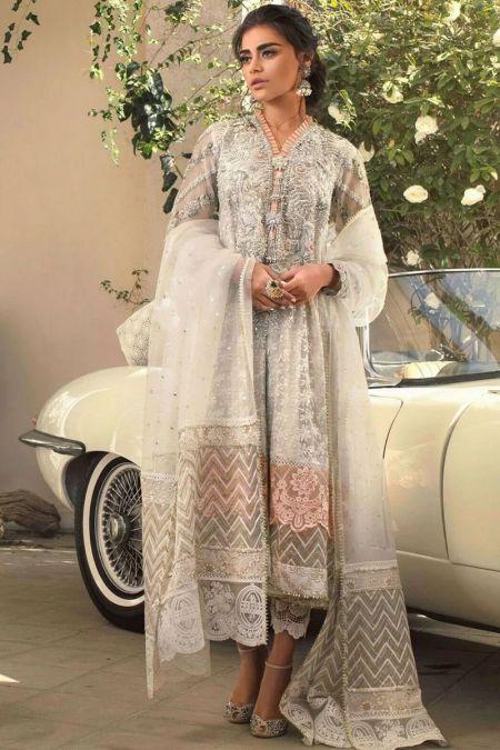 Anus Abrar custom stitch salwar Kameez style Wedding Dress ORGANZA collection