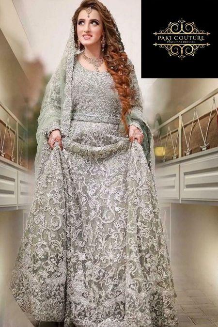Kashee custom stitch lehenga kameez style Wedding Dress net collection