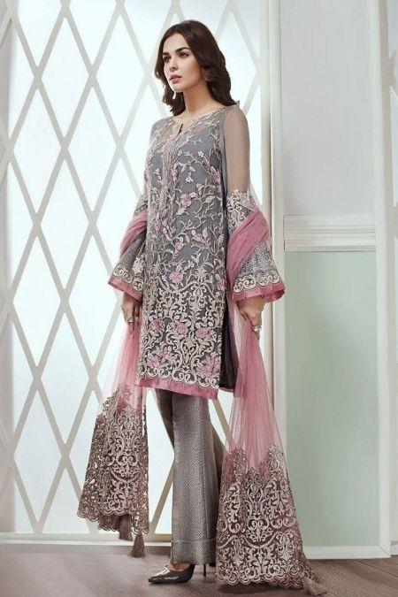 Jazmin custom stitch salwar Kameez style Wedding Dress net collection