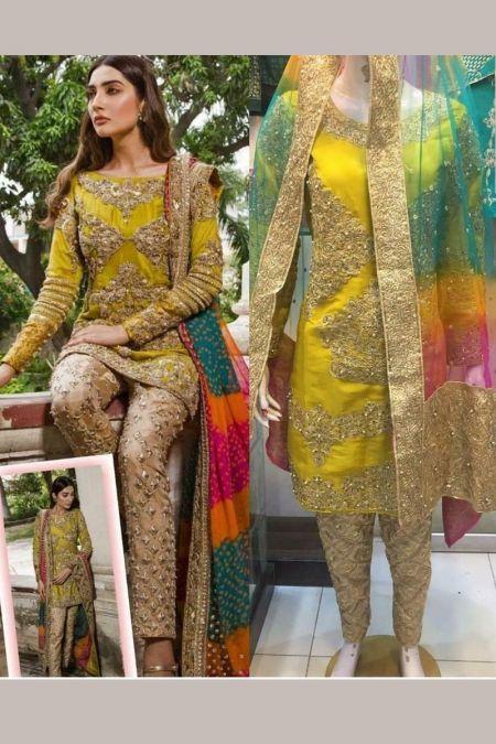 Aisha Imran custom stitch salwar Kameez style Wedding Dress MAYSORI collection