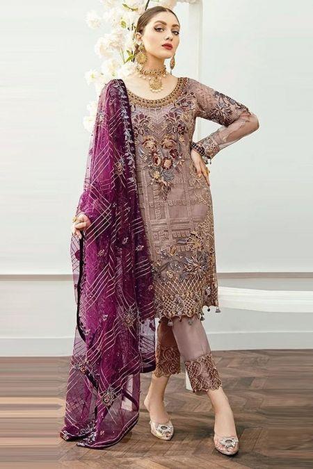 Ramsha custom stitch salwar Kameez style Wedding Dress chiffon collection