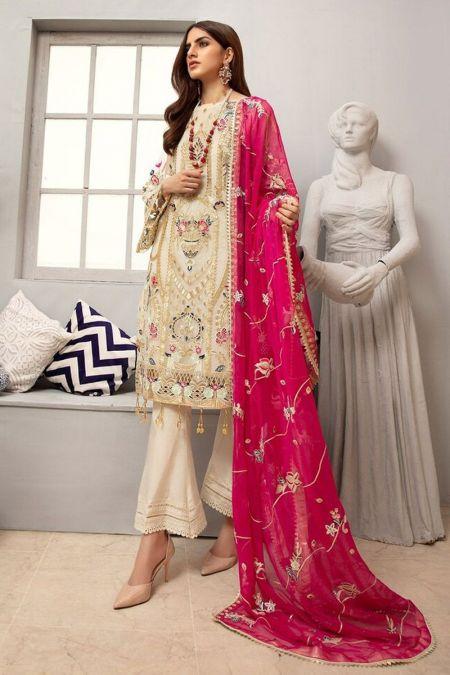 Jazmin custom stitch salwar Kameez style Wedding Dress chiffon collection