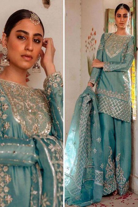 Mina Hassan custom stitch Flapper Kameez style Wedding Dress Maysori collection