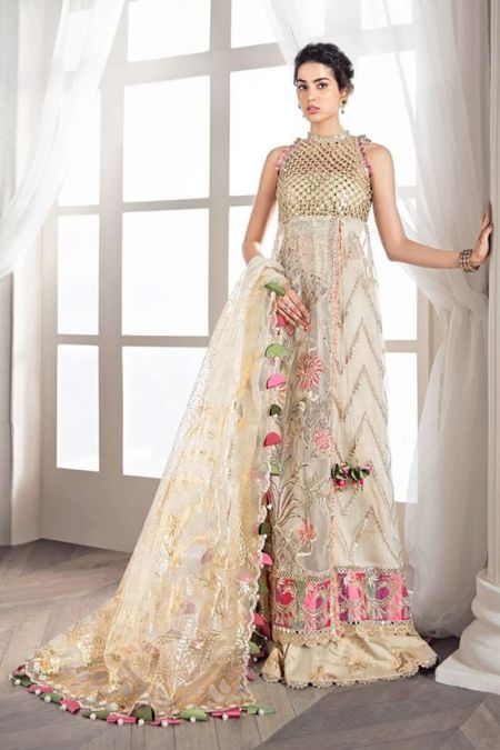 Republic Womens Wear custom stitch long frock style Wedding Dress net collection