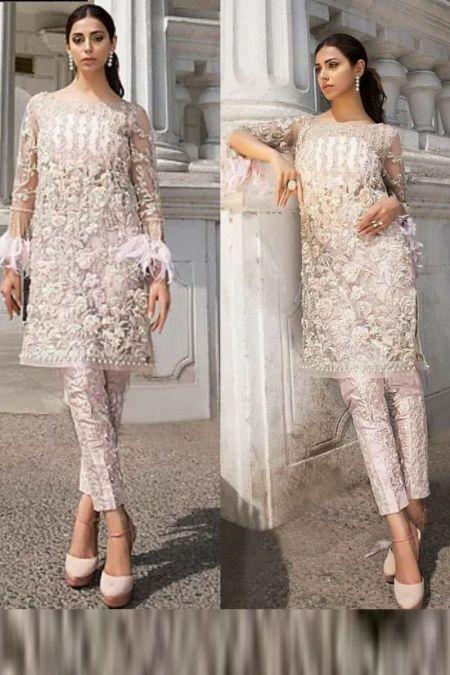 Erum Khan custom stitch salwar Kameez style Wedding Dress net collection EK-008