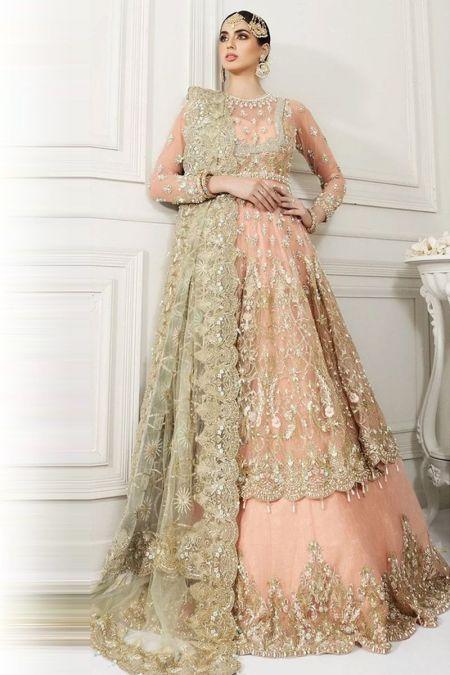 Anaya custom stitch bridal Maxi lehenga Style Wedding Dress net collection