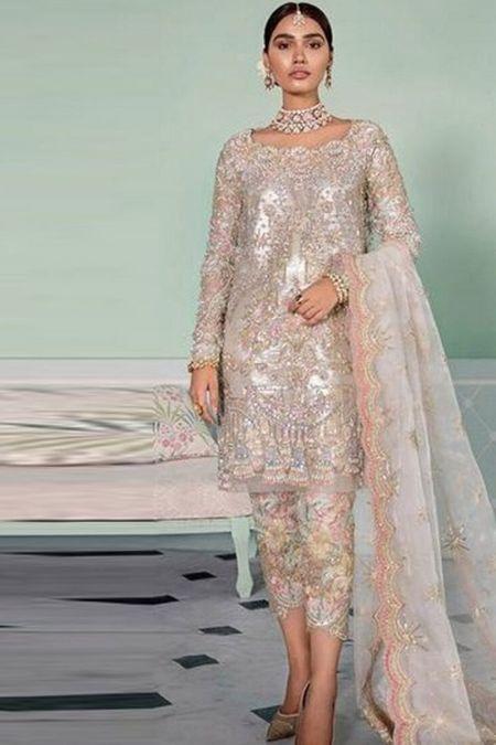 Republic Womens Wear custom stitch Salwar Kameez style Wedding Dress WF-19