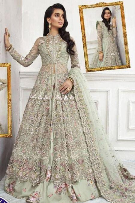 Maria B custom stitch Long Maxi style Wedding Dress RUEDAD E SAHR-The Tale Of Dawn