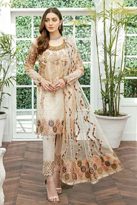 Ramsha custom stitch Salwar Kameez style Wedding Dress  luxury chiffon Collection