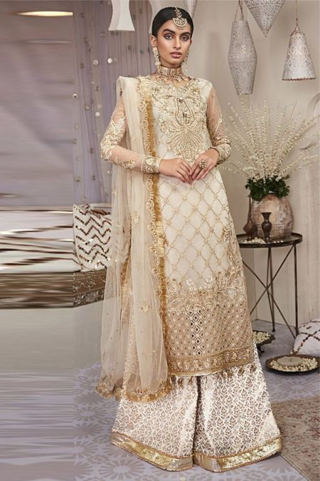 Anaya custom stitch Sharara Kameez Style Wedding Dress Mehrbano