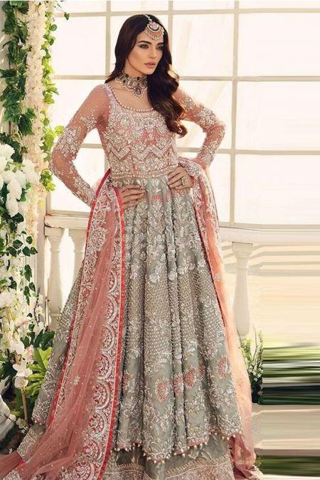 Aisha Imran custom stitch Long Maxi style Wedding Dress Bridal Collection
