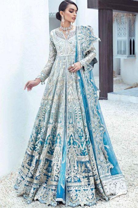 Maryum N Maria custom stitch Long Frock style Wedding Dress Ocean Drift