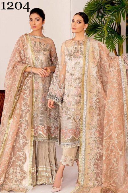 Baroque custom stitch Salwar Kameez style Wedding Dress FALL LIGHT Chantelle