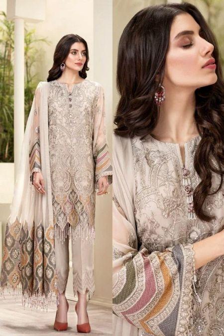 Baroque custom stitch Salwar Kameez style Wedding Dress Arezu Chantelle