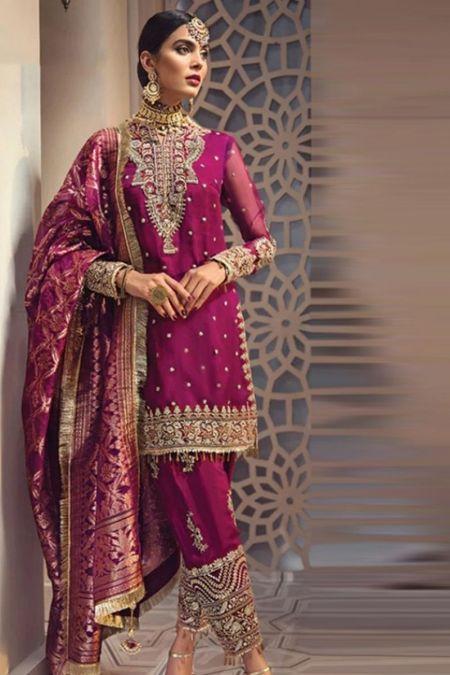 Anaya custom stitch Salwar Kameez Style Wedding Dress Pink Isfahan