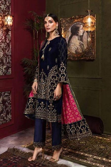 Mohagni custom stitch Salwar Kameez Style Wedding Dress Velvet Collection