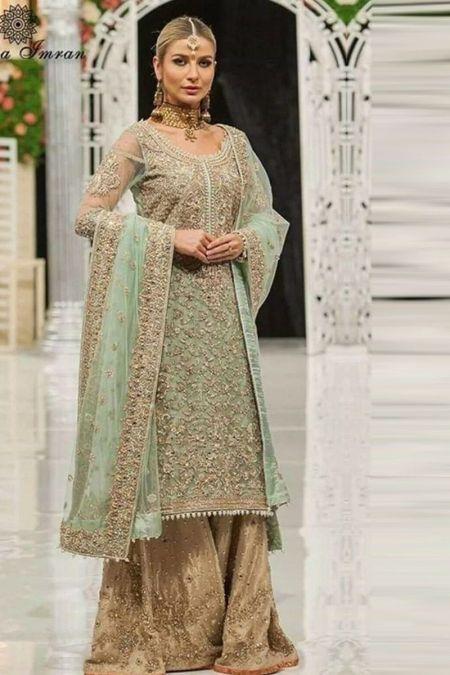 Aisha Imran custom stitch Lehenga style Wedding Dress Bridal Collection